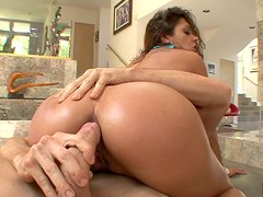 Provocative whore Francesca Le gets screwed hard in her butthole