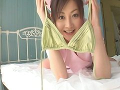 Another lingerie set goes on Anri Sugihara's all natural body