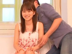 Lovely Cute Teen from Japan Getting Toyed by Vibrating Toy