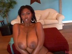 Big-Ass Titty Ebony Gets Nailed Big Time.