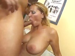 Curvy milf in stockings fucked in her hot ass