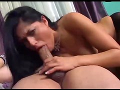 Pantyhose gal tongued and ass fucked