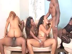 An all black orgy with all holes fucked