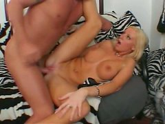 Trashy blonde whore Cailey Taylor is banged rough in her asshole