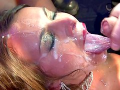 Sensual babe loves to feel her face covered with cum