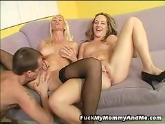 Talon is lucky enough to feel first-ever hand A benefits of screwing A MILF and her Erotic learner daughter.  Joey Lynn has been checking out some porn and saw her daughter, Kacey Jordan, oral-fuckin