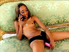 Stunning Ebony Babe Gets The Dick She's Been Craving