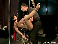 Chick gets tied up and abused in hardcore BDSM VIDEO