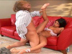 Big hunk fingers and eats palatable pussy of Maya Gates