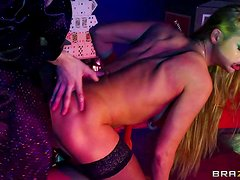 Attractive smoking hot long haired boned stunner Cathy Heaven with