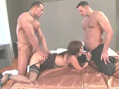 Short haired slut dreams about teasing two dicks at once