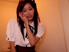 Schoolgirl Eiro Gives A Footjob In Black Stockings