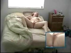 Girl wakes up and plays with her pussy. Terrific hidden cam clip
