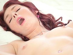 Mesmerizing hot wanker polishes her shaved wet pussy with a sex toy