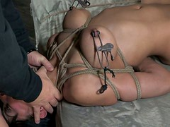 Devilish whore Beretta James is screwed bad in BDSM video