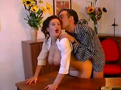 Big titted secretary fucking her boss during lunchtime
