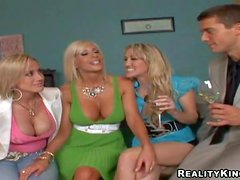 Attractive experienced pussy eating blonde milfs Puma Swede, Kylie and