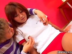 Japanese babe banged at home