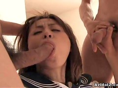 Japanese coed fucked at home uncensored