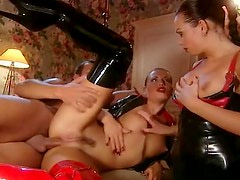 Hardcore Euro porn with latex and anal