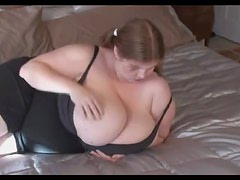 Fat cutie has giant boobs
