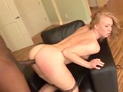 Seamed stockings gal fucked by a BBC
