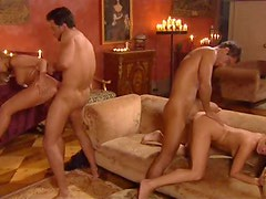Exciting orgy with highly arousing and hot chicks