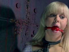 Tattooed slut Sarah Jane Ceylon gets enchained and handcuffed