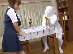 Asian model takes part in a crazy Japanese sex game