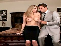 Busty blonde named Julia Ann gets a crazy cunnilingus from Ramon Nomar