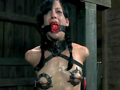 Sexy slave Elise gets chained and tortured hard