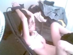 Asian gf blindfolded, chained, and face-fucked