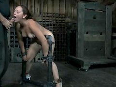 Sasha gets Chained, Whipped and fucked Anal