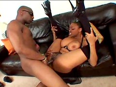 Giving curvy black girl a good fucking