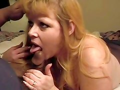 Sensual bitch slobbers over this stiff cock