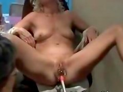 Filthy blond MILF getting snatch ruinded
