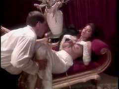 Tera Patrick stripped of satin dress and eaten out