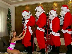 Amazing blonde sweetie Doris Ivy was dreaming about big cocks on Xmas