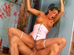 Tory Lane in chains face and ass fucked