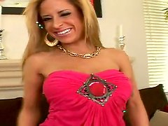 Amazing scene with a passionate and hot blonde who shows her big boobs and delicious as
