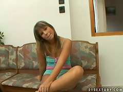 Naughty Billie loves being alone and sexcited