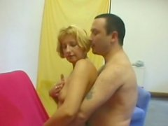Perverse mom Jennifer masturbates with cushion