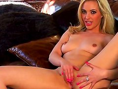 Crazy scene with a hot bitch Sophia Knight who masturbates and shows her pussy