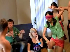 Two slutty Asian chicks are always for a splendid orgy party