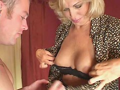 Lustful mom Debbie Lien is brutally screwed by horny young stud