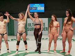 6 honey Orgy! Losers xxx fight each other to determine super big Loser