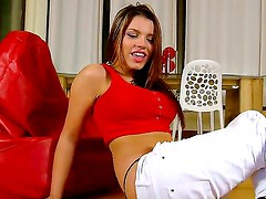 Become turned on and start jerking off relaxing with Angel Rivas! This magnetic babe with