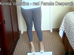 Spandex wetting pants and female desperation 31