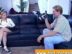 Sex casting interview with cute blonde Yvonne