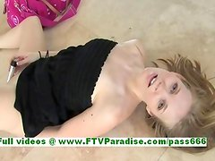 Courtney awesome blonde teenage masturbating with a vibrator and dildo